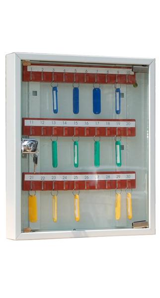 Шкаф для ключей КЛ-30C купить недорого в Екатеринбурге (с брелками)